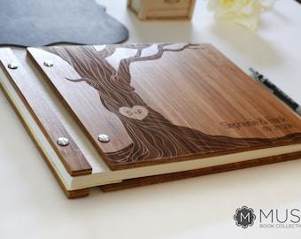 Bamboo Wedding Guest Book Wooden