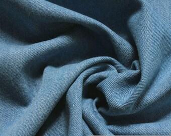 Fabric pure cotton denim Jeans light blue prewashed soft