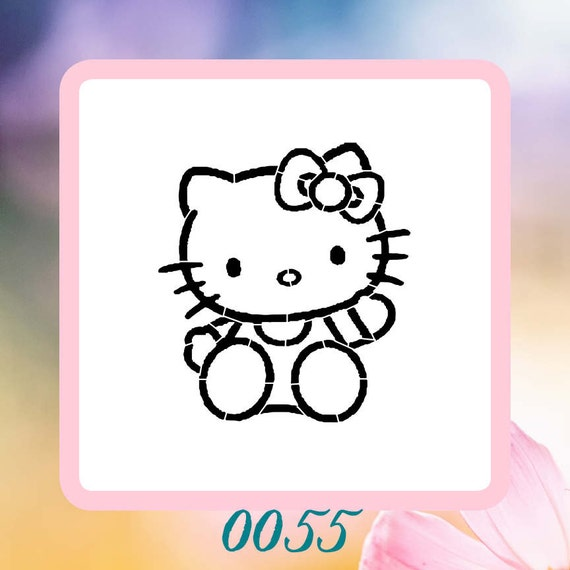 Hello Kitty Stencil For Wall Painting