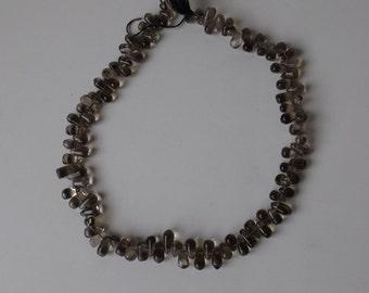 "10x4 mm Side Drilled Teardrop Smoky Quartz beads 14.5""strand  ( #J981)"
