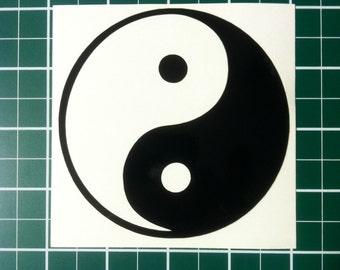 Yin Yang Vinyl Decal / Car Sticker