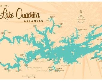 Lake Ouachita, AR Print