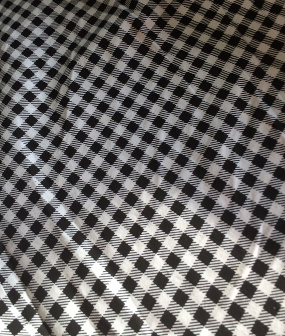 Black And White Small Gingham Cotton Fabric Sold By The Yard