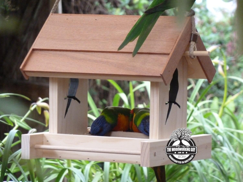 Handmade bird feeder with bird design a by thewoodworkingguys for Unique homemade bird feeders