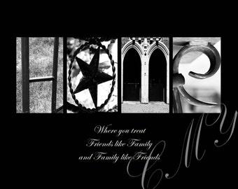 "CMY Word Art ""HOME"" - Download Digital File"