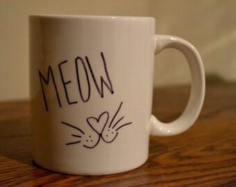 SALE -- Meow Cat Mug