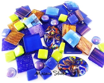 Mosaic Gourmet Bling Packs - 50pc - Mystic Blue