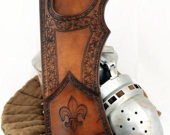 Quasi medieval Quiver/Leather Quiver/Fantasy Quiver/ Tooled Quiver/Carved Quiver/Dekoriert Köcher