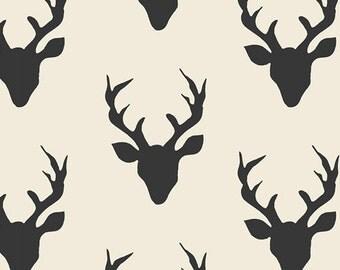 SALE!! 1/2 Yard CANVAS Hello, Bear by Art Gallery Fabrics- Buck Forest Night (HBR-5434)