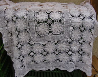 50 PERCENT OFF Crocheted table cloth