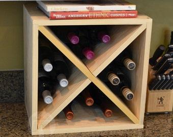 12 Bottle Wine Cube (Pine) by VinoGrotto