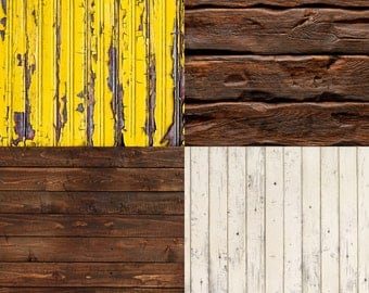 FREE EXPEDITED SHIPPING And Insurance ! Four 2' x 2' Mix And Match Vinyl  Backdrops for Product Photos, Yellow, Brown,  and Cream     FL27