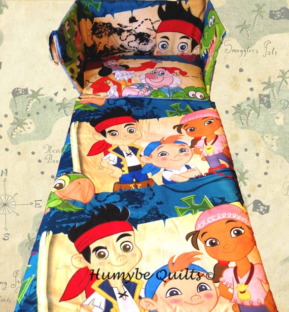 Jake and the neverland pirates cot crib bedding set disney for Jake quilted bedding