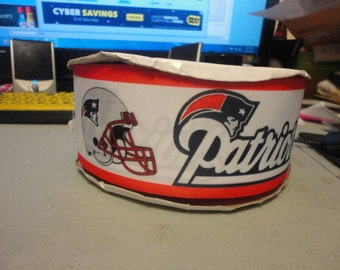 2 yards of  3 inch wide New England Patriots grosgrain ribbon