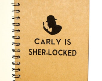 Personalized Sherlock Notebook, Sherlock Journal, Sher-locked, Blank Journal, Notebook, Journal, gift, Sherlock, Diary, Fandom, Sketchbook