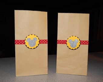 Mickey Mouse Party Bags - Mickey Mouse Party Favors - Fish Extender Gifts - Set of 12 bags