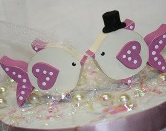 Wedding Cake Topper Fish