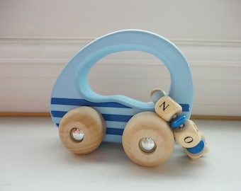 Personalized Toddler Gift Wooden Toy Car Personalized Car Natural Wood Toy eco friendly