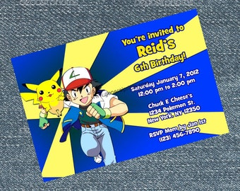 Pokemon Invitations - personalized for your birthday