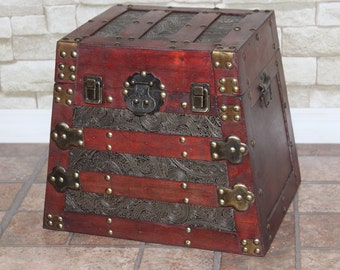 Vintage wooden trunk, Handmade 2 sizes available.