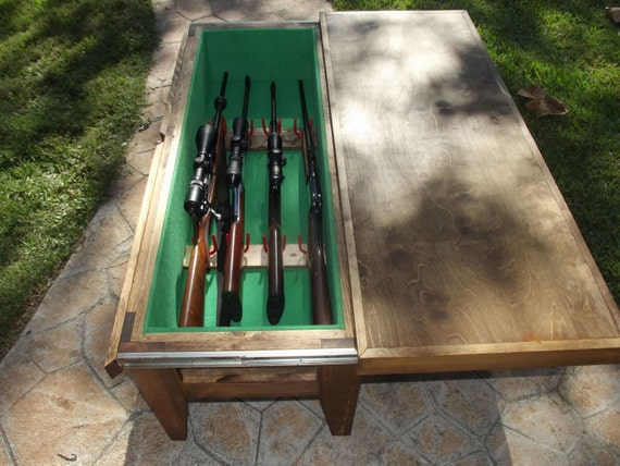 Items Similar To Gun Cabinet Coffee Table On Etsy
