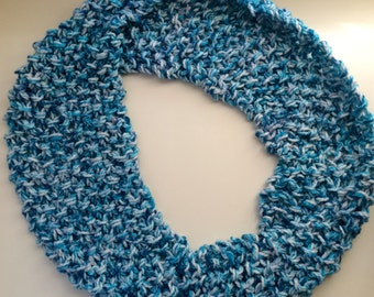 Long Hand-Knit Infinity Scarf