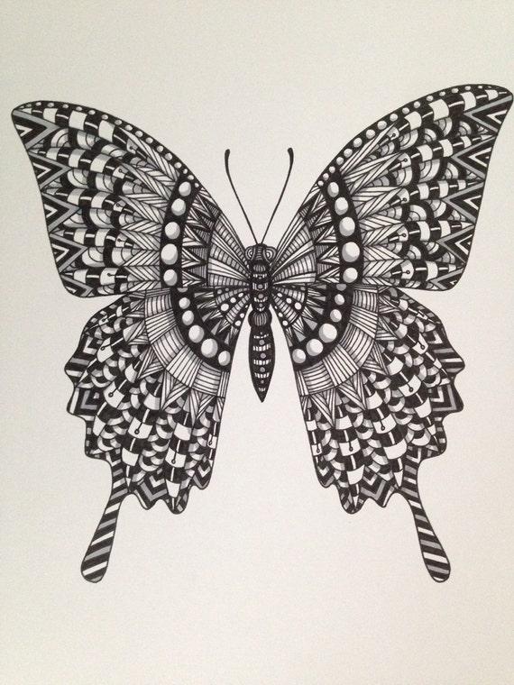 Zentangle Butterfly version 2