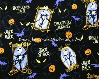 ... Fabric - Disney Cartoon Characters, The Nightmare Before Christmas