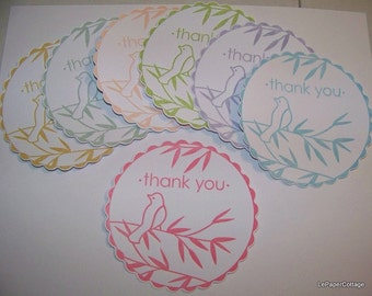 Thank you die cut tag