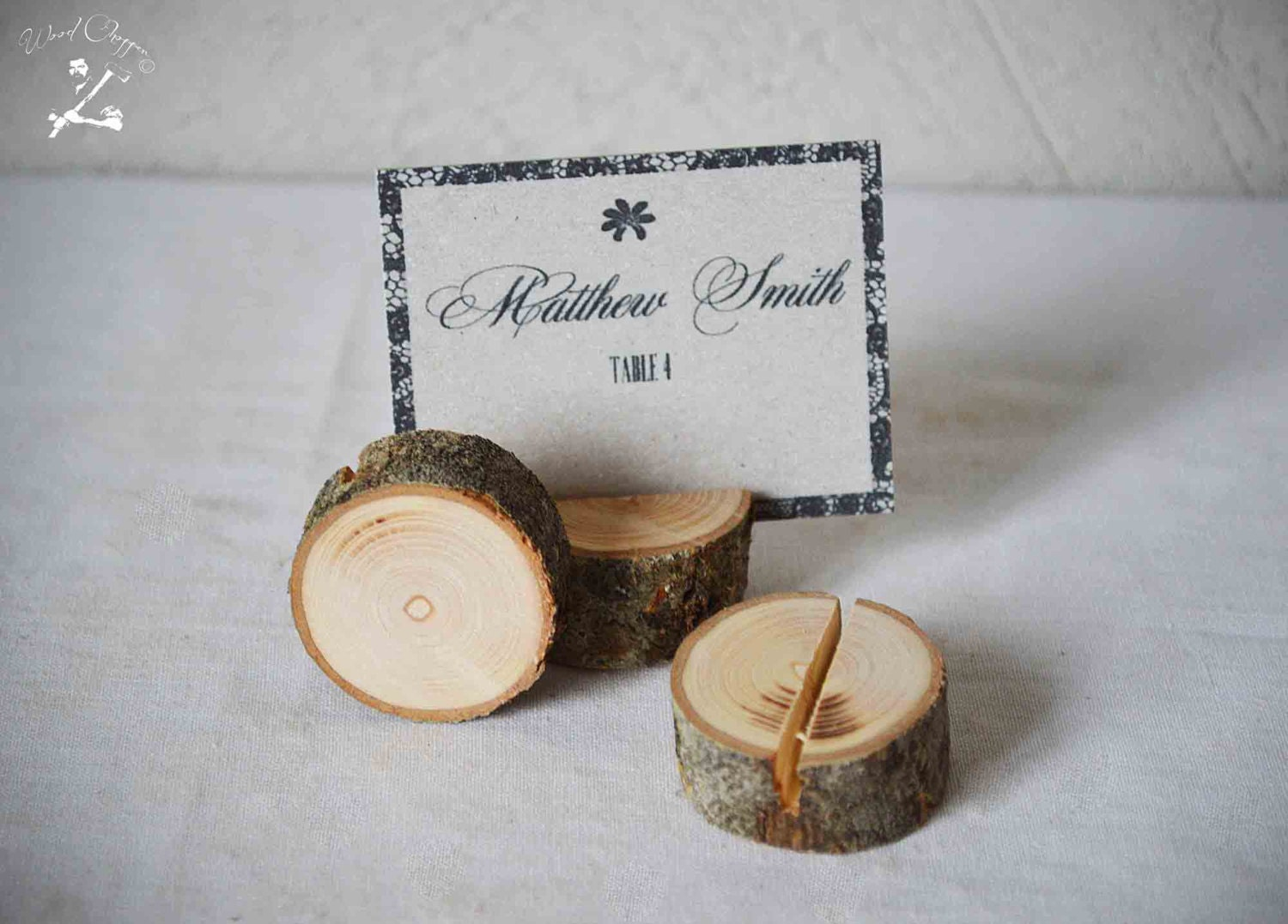 Wooden place card holders set of 20 rustic wedding name card for Place settings name card holders