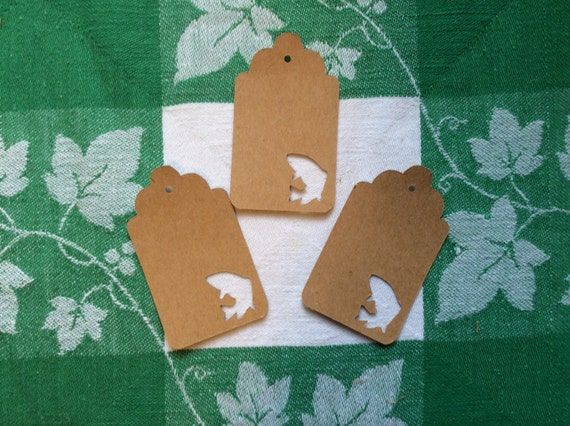 Die Cut Fish Tag By Naturecuts On Etsy