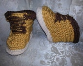 Yarntivity Original Design - Baby Work Boots - FREE shipping!