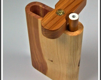 Handcrafted Tall Cedar Dugout with Bat