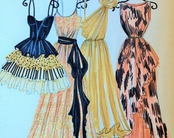 ORIGINAL Fashion Illustration-My Dresses