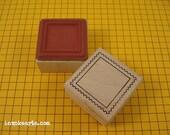 Square Postage Frame Stamp / Postoid / Invoke Arts Collage Rubber Stamps