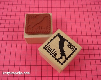 Italy Post  Stamp / Postoid / Invoke Arts Collage Rubber Stamps