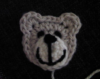 Teddy Bear Applique - PDF Crochet Pattern - Instant Download
