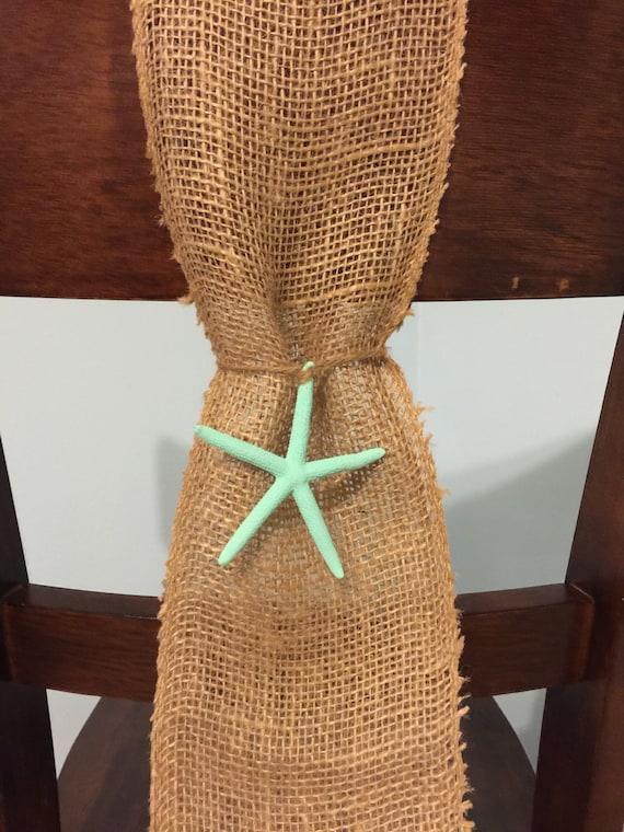 Burlap chair sash beach wedding decor rustic decor burlap and