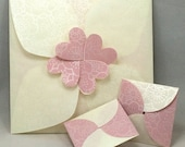 Variety Pack of 9 (Nine) Baby Pink and White Washi Gift Envelopes:  Perfect for Mothers Day, New Baby, or Any Other Occasion!