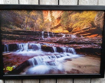 Wood Framed Canvas Print, of my Photos