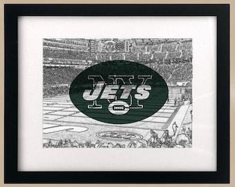 New York Jets StadiumScape Logo Print