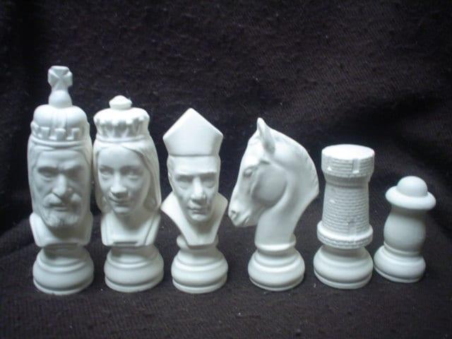 Ceramic bisque 32 piece r r chess set by familyceramicbisque - Ceramic chess sets for sale ...