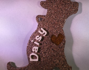 Personalized Dog Silhouette Decoration (Sienna)