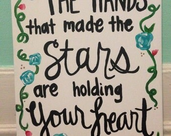 The hands the made the stars || 11x14 canvas painting