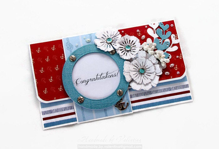 How To Wrap A Wedding Gift: Nautical Wedding Gift Card Holder Wedding By