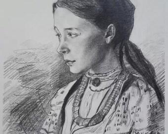 Custom Pencil drawing portrait on paper