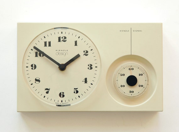 Space Age Kienzle Wall Kitchen Clock With Timer Panton