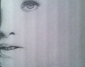 A pencil drawing of her