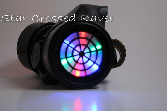 Rave Gas Mask Led Rainbow Led Gas Mask