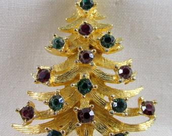 MYLU Vintage Christmas Tree Brooch